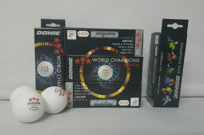 PROMO!!! Bola Pingpong Donic 3 Star isi 3 Free Cell 40+ - YOCS4n