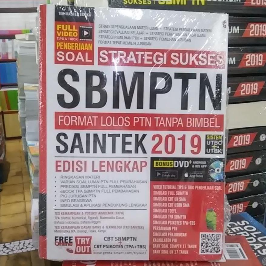 Buku SBMPTN 2019 : Strategi Sukses SBMPTN 2019 Saintek + CD
