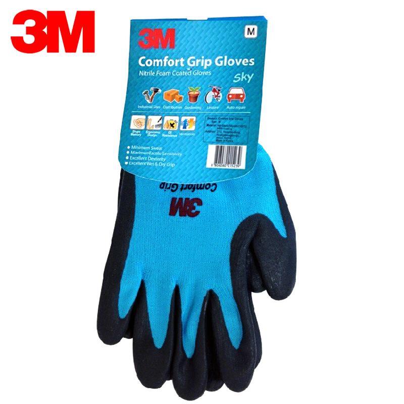 3M kenyamanan Anti Selip tahan banting sarung tangan perlindungan pekerja tenaga kerja sarung tangan Anti Dingin pekerjaan sarung tangan Nitril sawit dilapisi sarung tangan