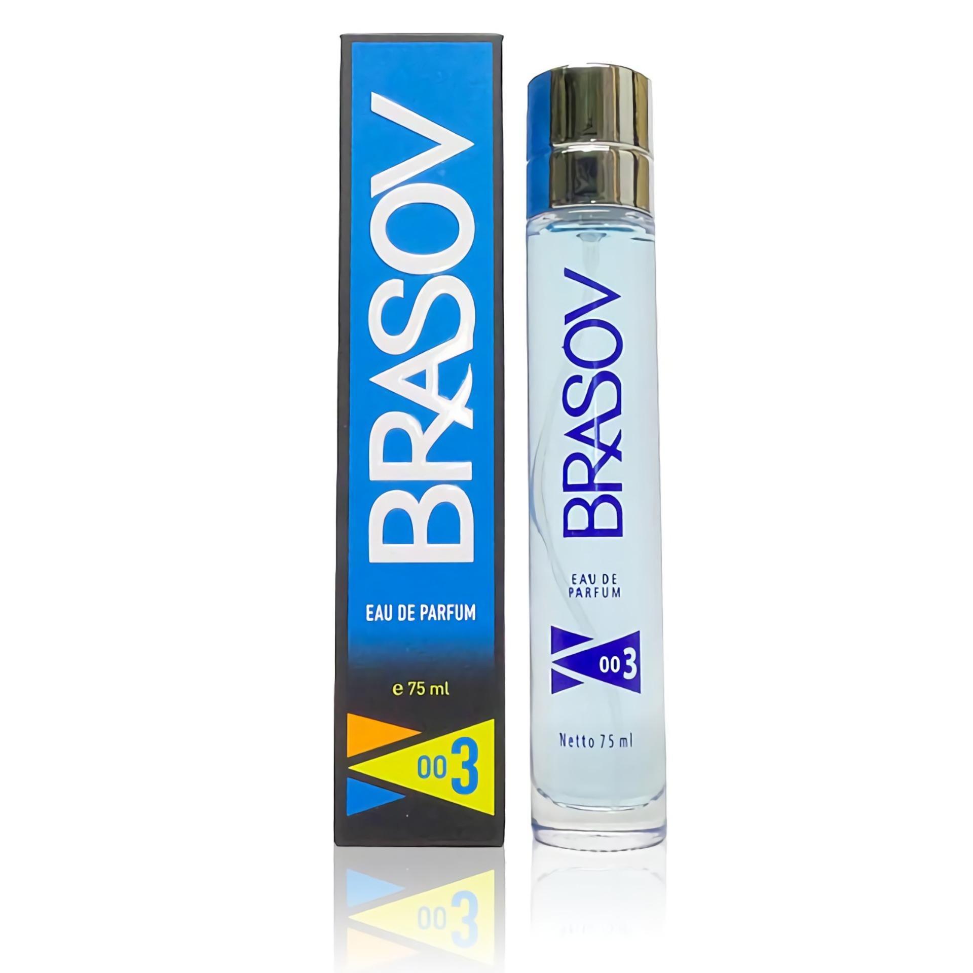 BRASOV Eau De Parfum XX-CT-671566 003 75 ml Perfume Cologne - Biru