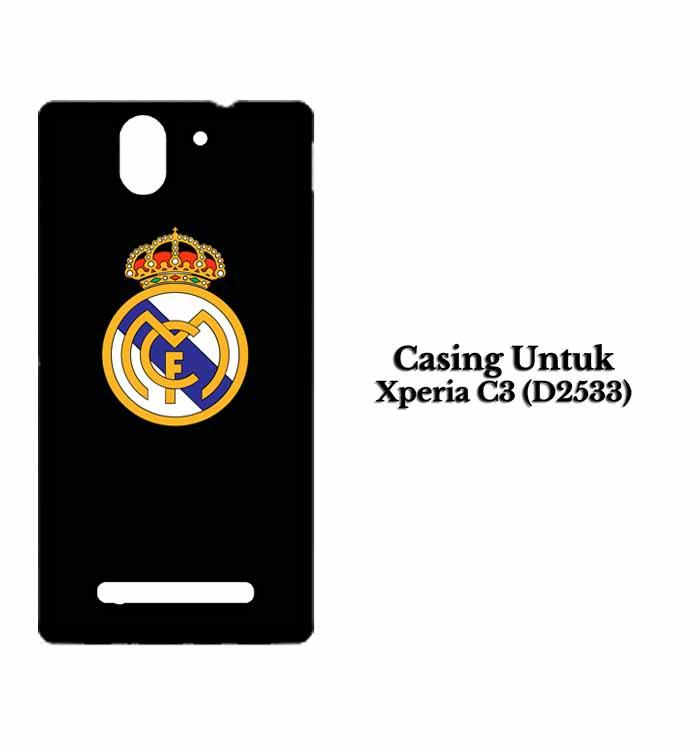 Casing Xperia C3 (D2533) real madrid dark fix Custom Hard Case Cover