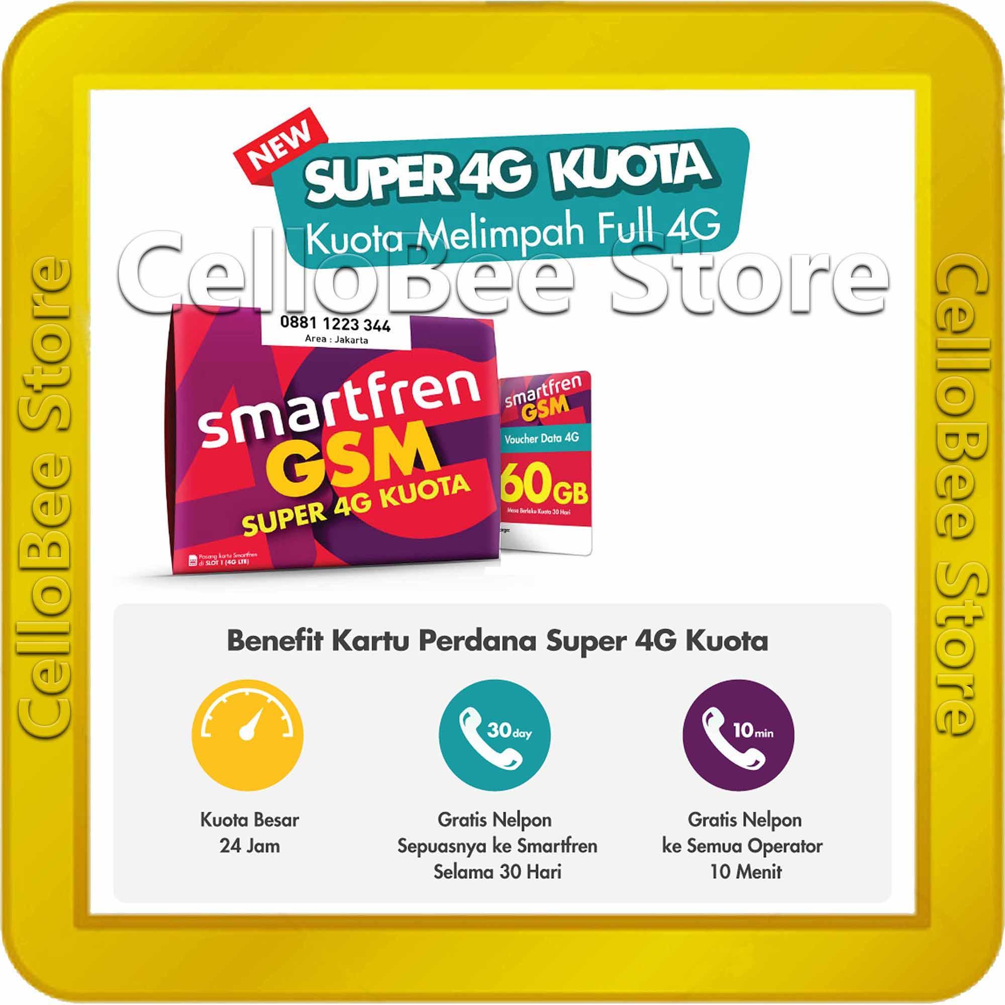 Kartu Sim Perdana Selular Axis Kosong Smartfren Sp Gsm New Super 4g Kuota 60gb