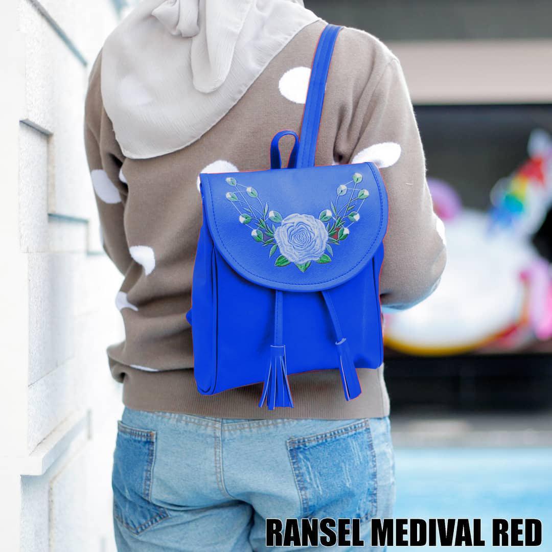 Radical - Backpack Tas Ransel Wanita Fashion Ransel Medival Motif Bunga