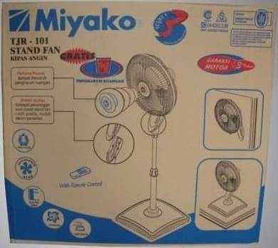 SALE - MIYAKO Desk Fan & Stand Fan TJR-101 Kipas Angin Meja Lantai Berdiri