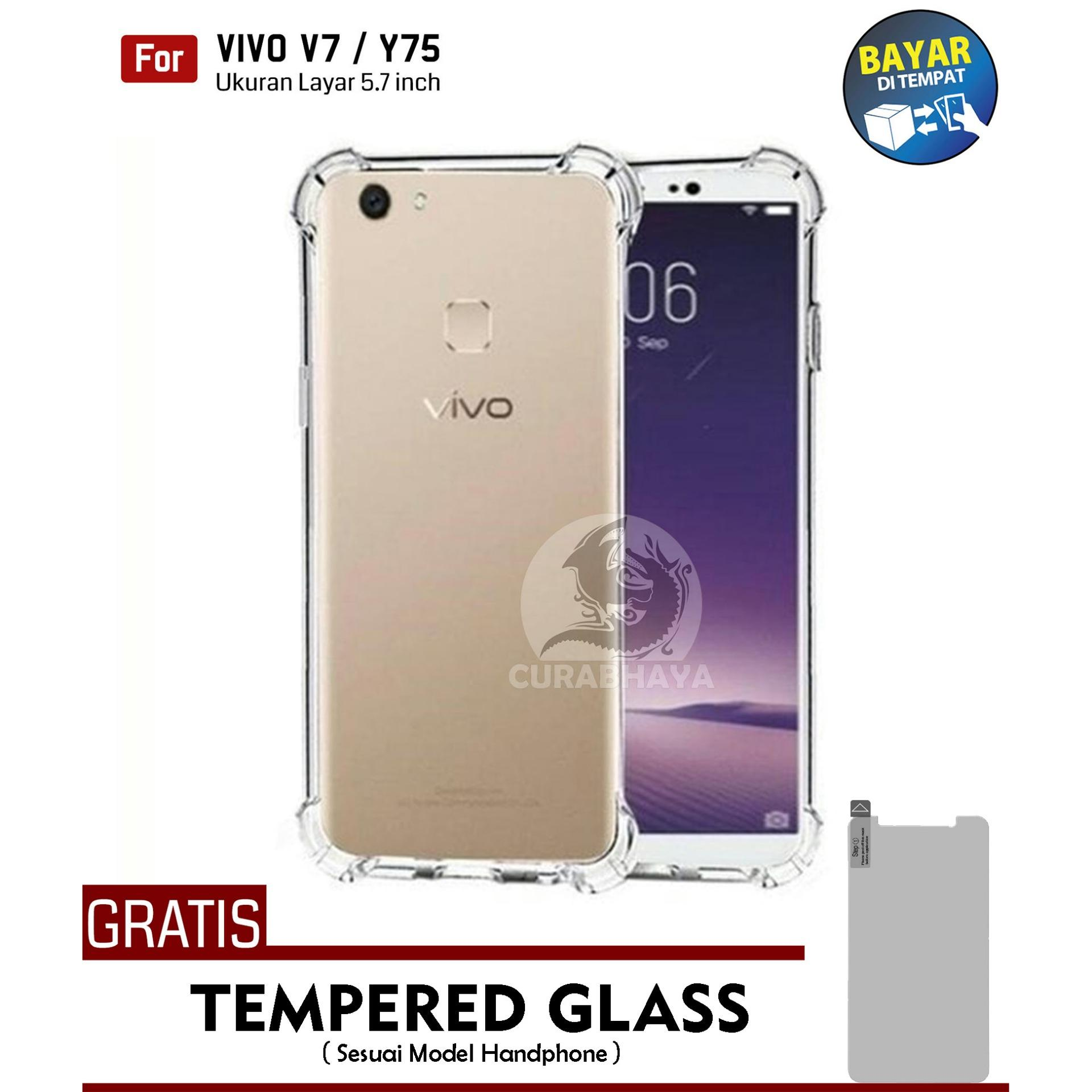 AirShock Vivo V7 / Y75 | Anti Crack Premium Softcase Cushion ShockProof + Gratis Free Tempered