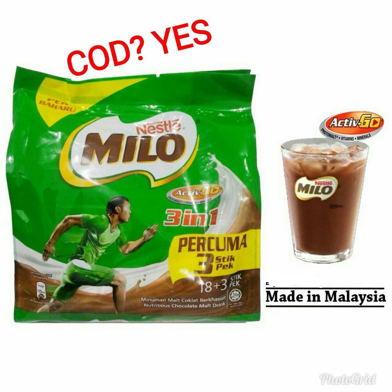 Ch.store milo malaysia 3 in 1 ( 21 sachet ) - BISA COD