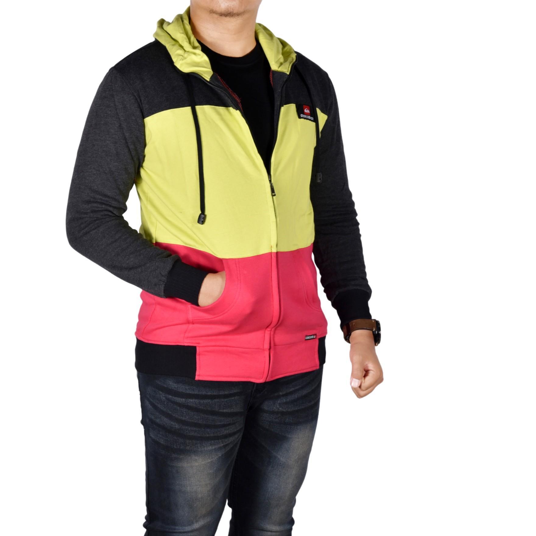 Dgm_Fashion1 Jaket Polos Combinasi Warna Korea /Jaket Denim/Jaket Parasut Pria/Jaket Bomber Pria/Ja