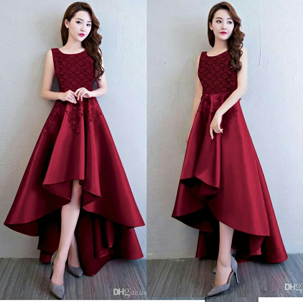 Grosir Hasanah Dress Maxi Pinguin Brukat Mei Mei - Dres Pesta - Baju Kondangan - Maxi Formal