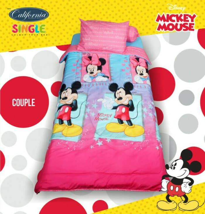 SPREI CALIFORNIA / MY LOVE SINGLE 120 X 200 MICKEY MOUSE COUPLE EXCLUSIVE