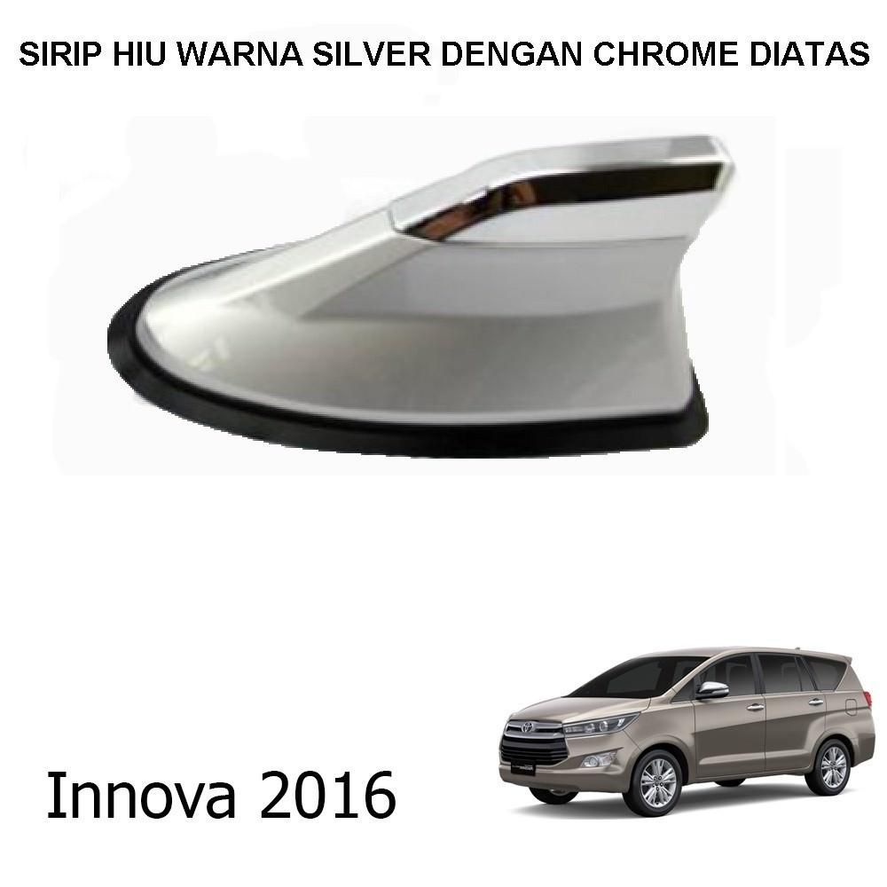 Antena Sirip Hiu Mobil Innova Universal Warna Dengan Chrome Diatas