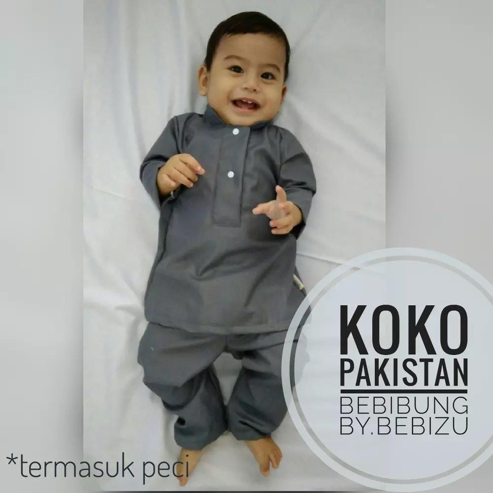 Setelan Koko Pakistan Celana Peci Baju Bayi Resmi Newborn Akikah Aqiqah Baby Boy
