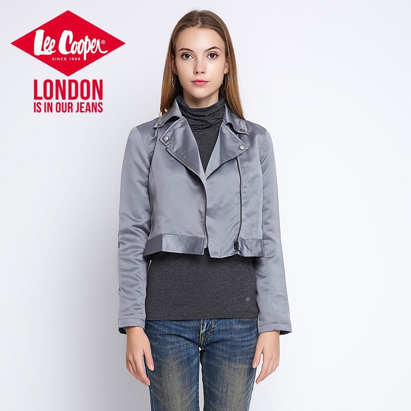 Lee Pakaian Wanita Inggris Warna Abu Perak Musim Gugur atau Musim Dingin Baru (Hitam)