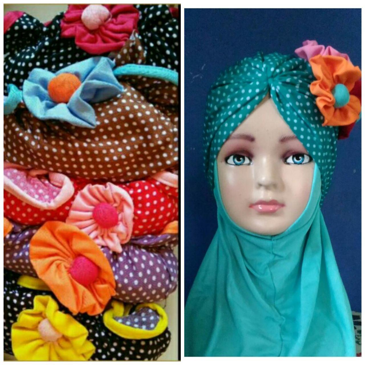 Buy Sell Cheapest Terlaris Jilbab Siria Best Quality Product Deals Jilba 3q Kerudung Anak Turban Polkadot