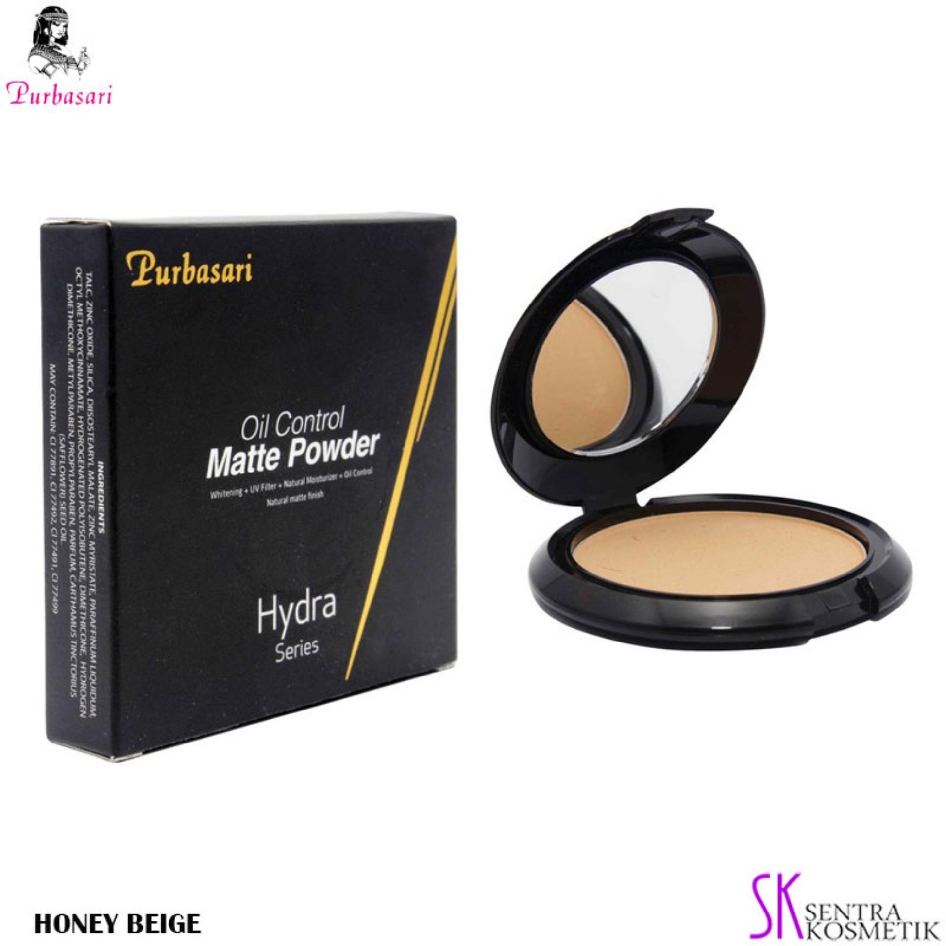 Bedak Compact Powder Terlengkap Natural 01 Padat Bioaqua Make Up Professional Purbasari Oil Control Matte Honey Beige
