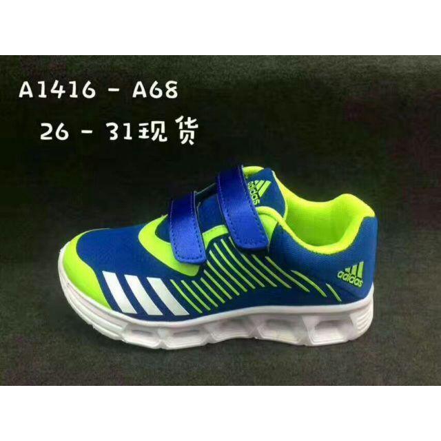 Sepatu Adidas Kids LED -BIRU-PINK-HITAM - Ukuran 25-31