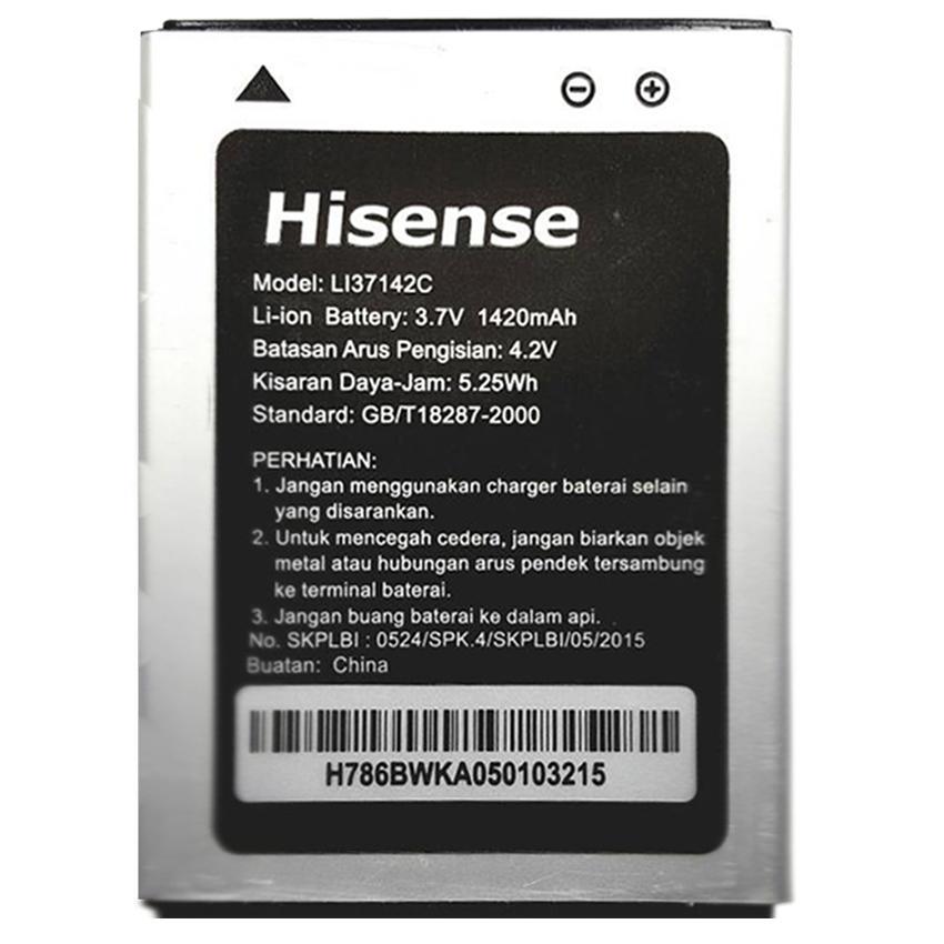Hisense Baterai Battery Batre Compatible for Smartfren Andromax C 1420 mAh- Hitam