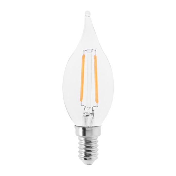 IKEA LUNNOM Bohlam LED E14 200 lumen, chandelier kaca bening