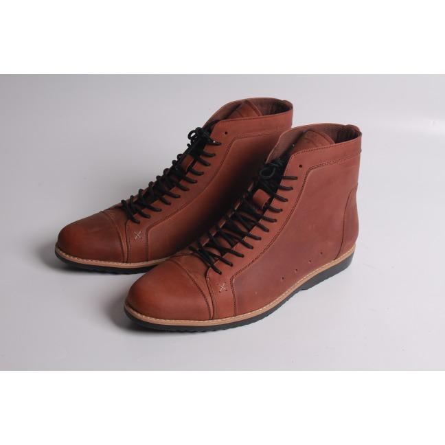 Sepatu boot pria kulit merk Boston Super Legion (Brodo/Bally)
