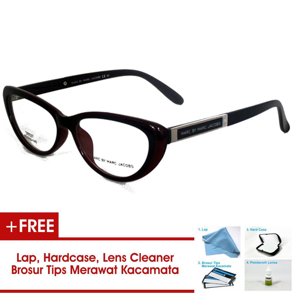 Frame Kacamata Pria Wanita Korea JTR527 Maroon Bisa Dipasang Lensa Minus Di Optik Terdekat