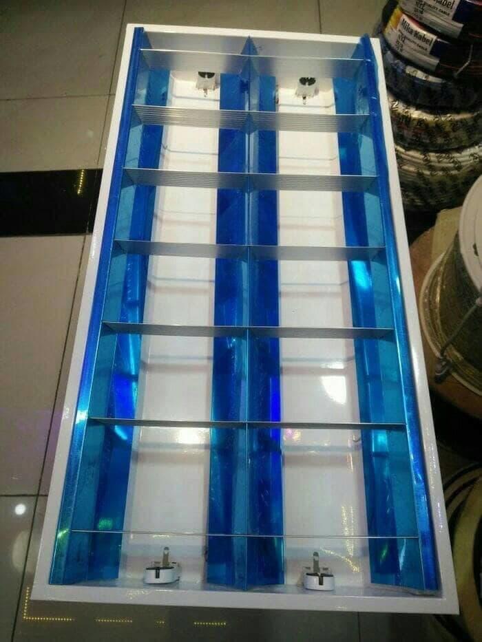 Kap Lampu RM 2x18 Watt / Kap RM TL 2x18 W + Komponen Philips