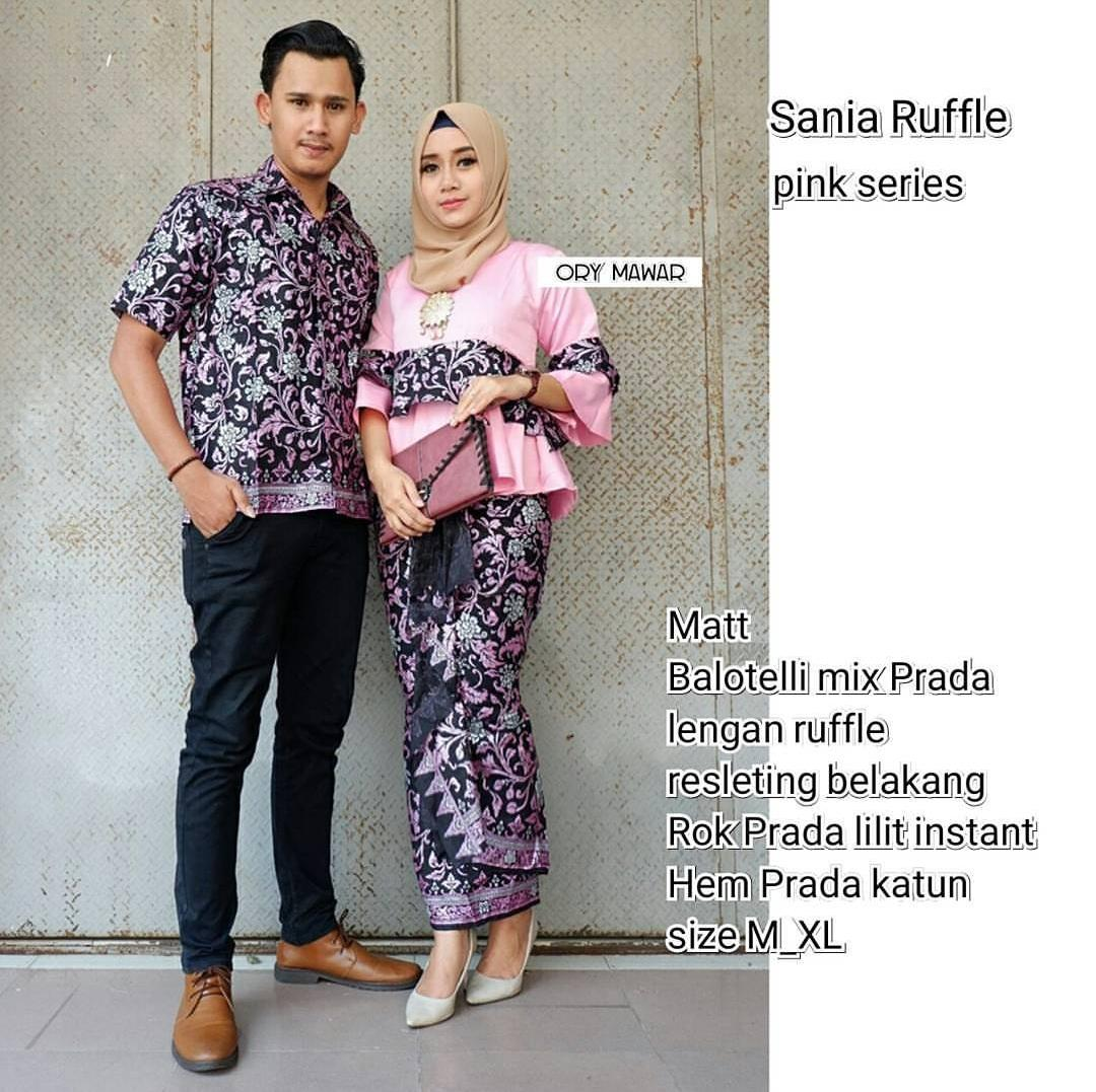 TERMURAH - Batik Couple SANIA PINK