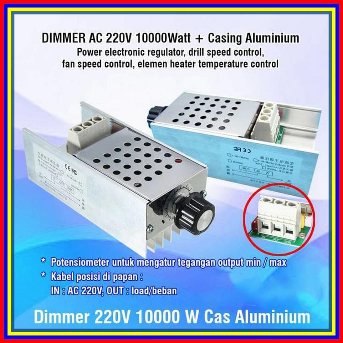 Dimmer Speed Rpm Motor Ac 220 Volt 10000 Watt Withcasing