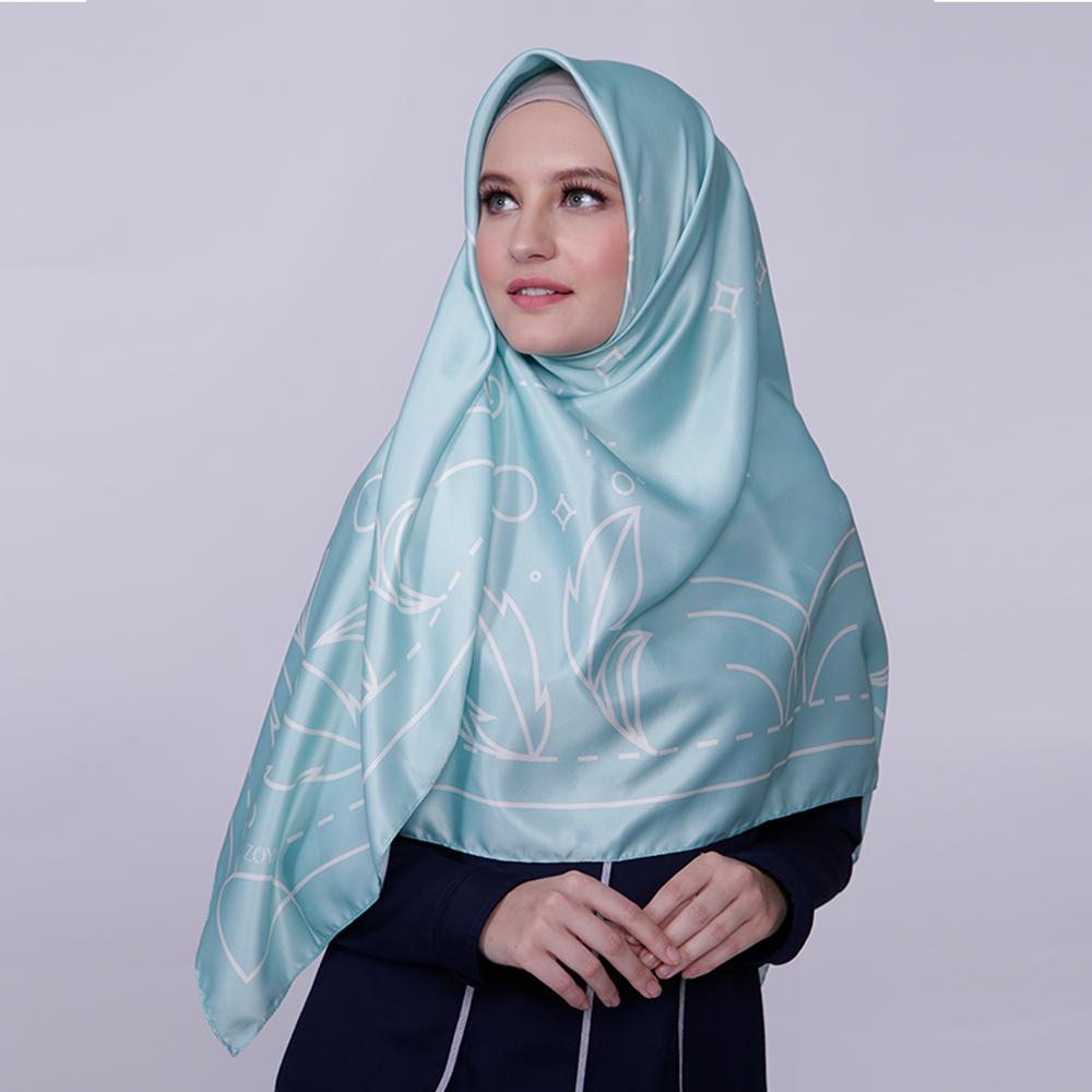 Kerudung Satin Zoya Hijab Segiempat - Reanna Scarf