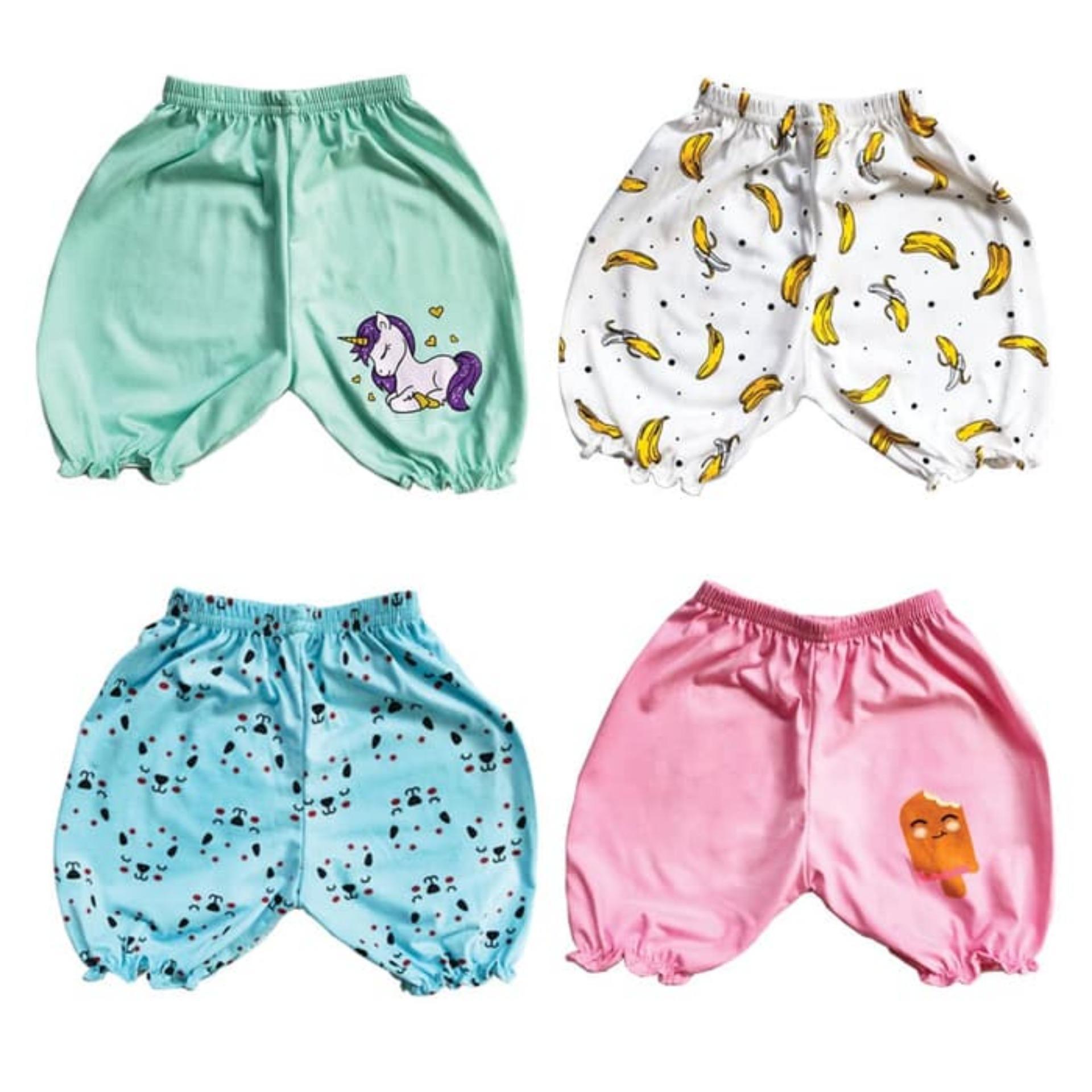 Kazel Jobel Baby Bloomer Girl Short Pants Unicorn Edition Celana Pendek Anak isi 4