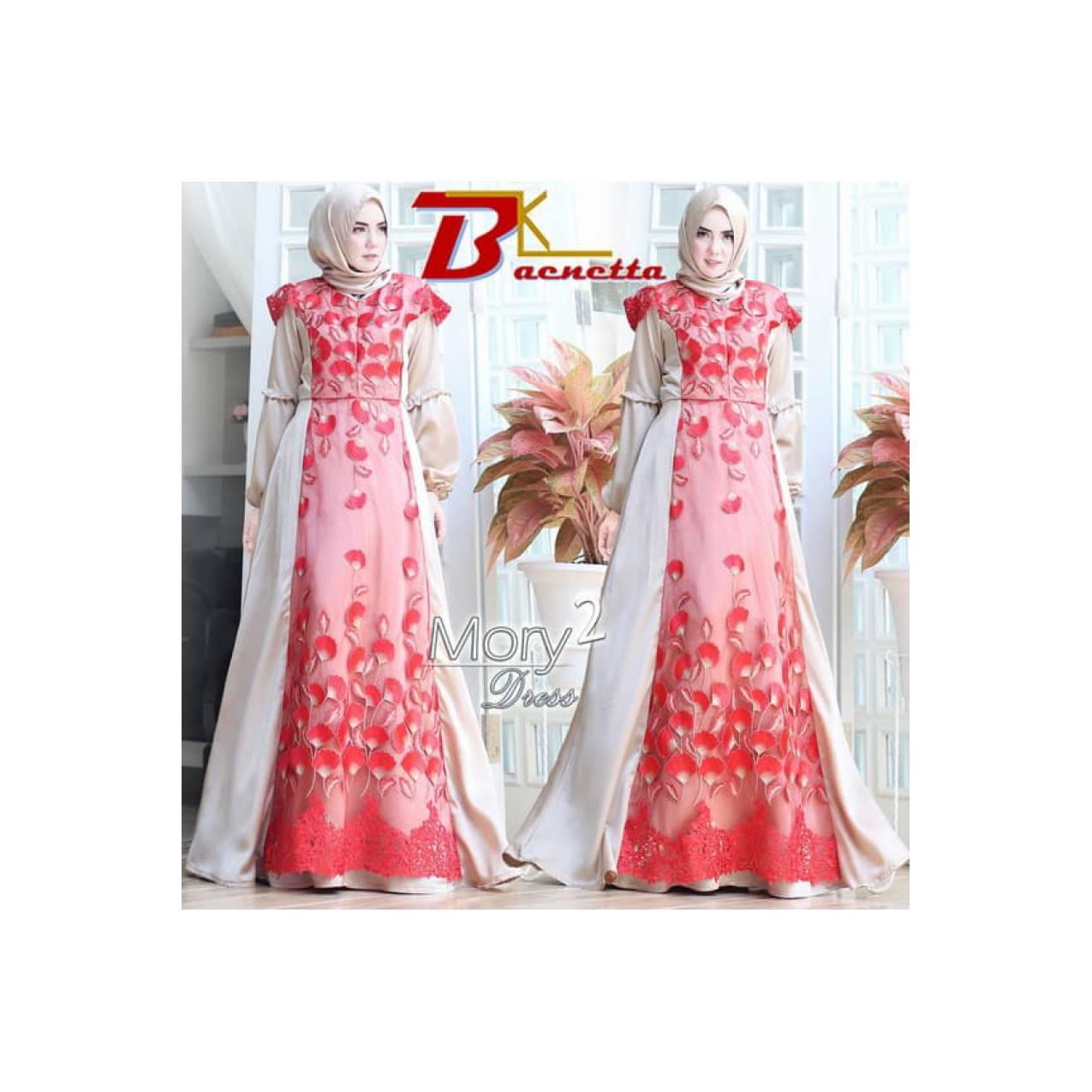 Gamis Pesta Dress Branded Mewah Lebaran ORI MORY 2 by Baenetta