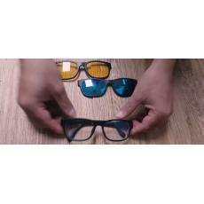 Magic Vision 3 In 1  Kacamata Anti Silau Siang Malam dan Fashion 3 Frame  Lensa d84b021b4d