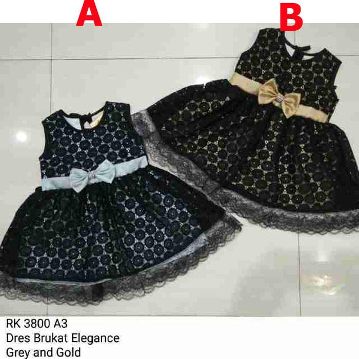 Baju Bayi Perempuan Dress Kondangan Bayi - Brukat Elegance