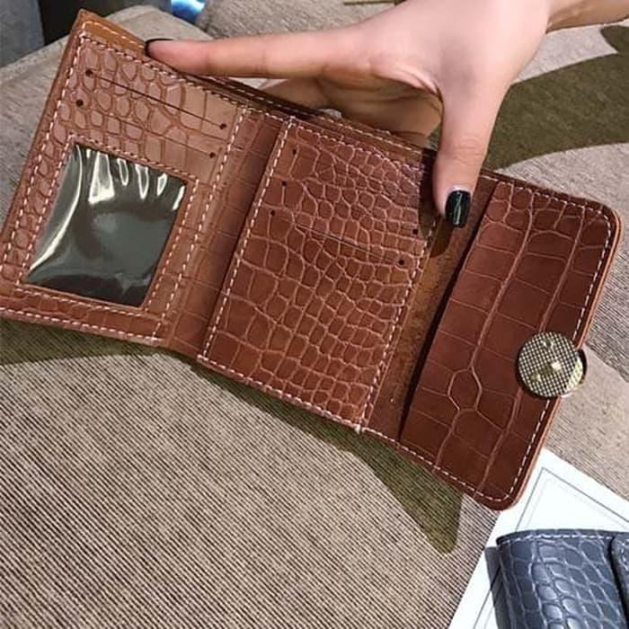 PROMO SAAT INI dompet lipat wanita kulita buaya women folding leather wallet bdo114 TERLARIS