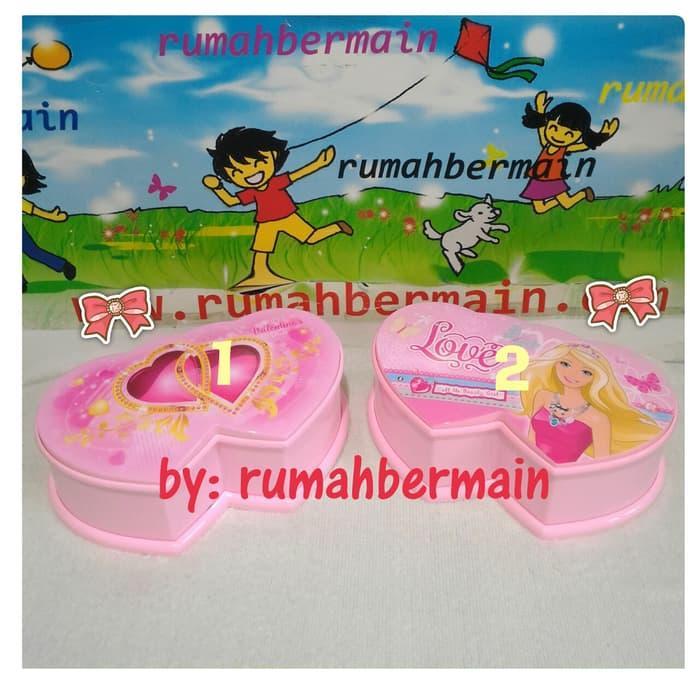 Kotak Musik Double Love Ballerina Pink Music Box Hadiah Kado Cantik -