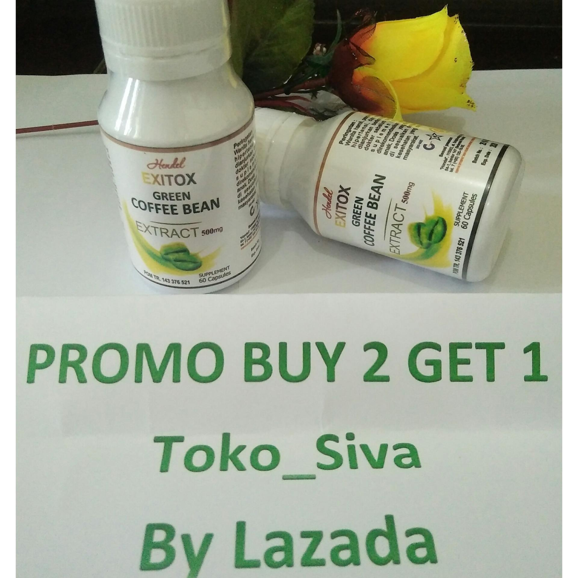 Buy Sell Cheapest Hendel Exitox Obat Best Quality Product Deals Pelangsing Herbal Green Coffee Cofe Bean Extract Extrak 500mg Isi 60 Kapsul