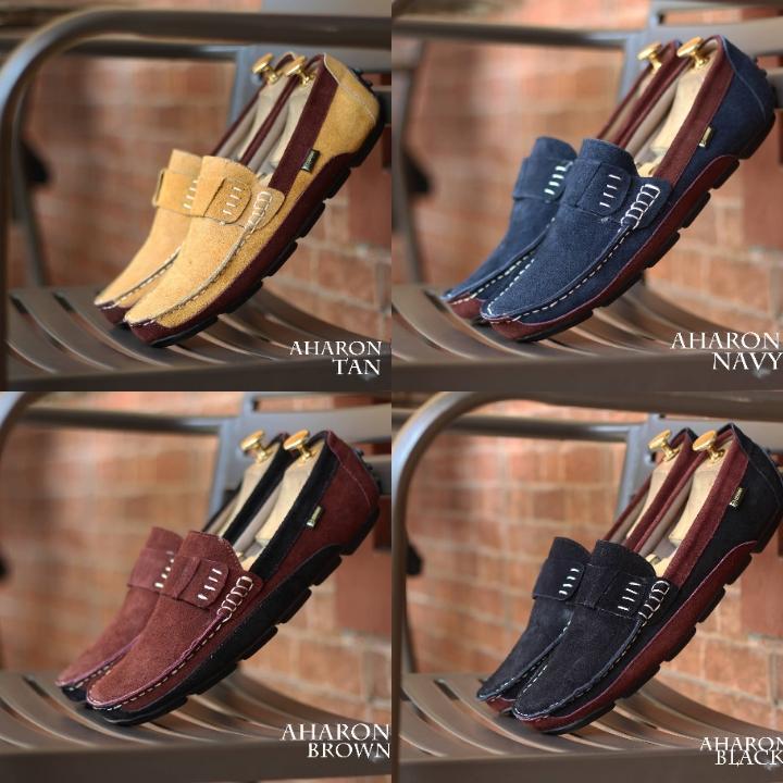 Sepatu Casual Pria Santai Kerja Kulit Asli Suede Kasual Cowo Kerja Formal Resm Pesta Jalan Lebaran 39 - 43 Lokal Original