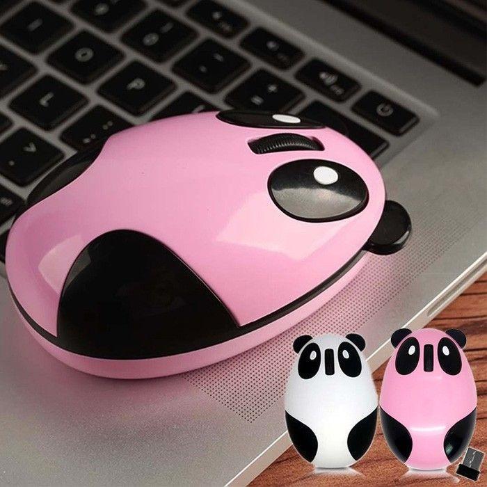 Mouse Panda Putih - Mouse Wireless Slim Mouse Karakter Cute Aksesoris Laptop Murah Kado Pria Wanita Kualitas Bagus Ready Stock Jakarta