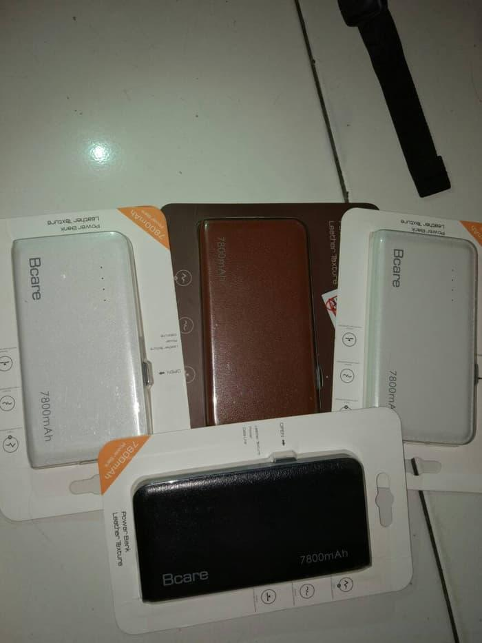 POWERBANK Bcare 7800mAh Leather texture Original Paling murah