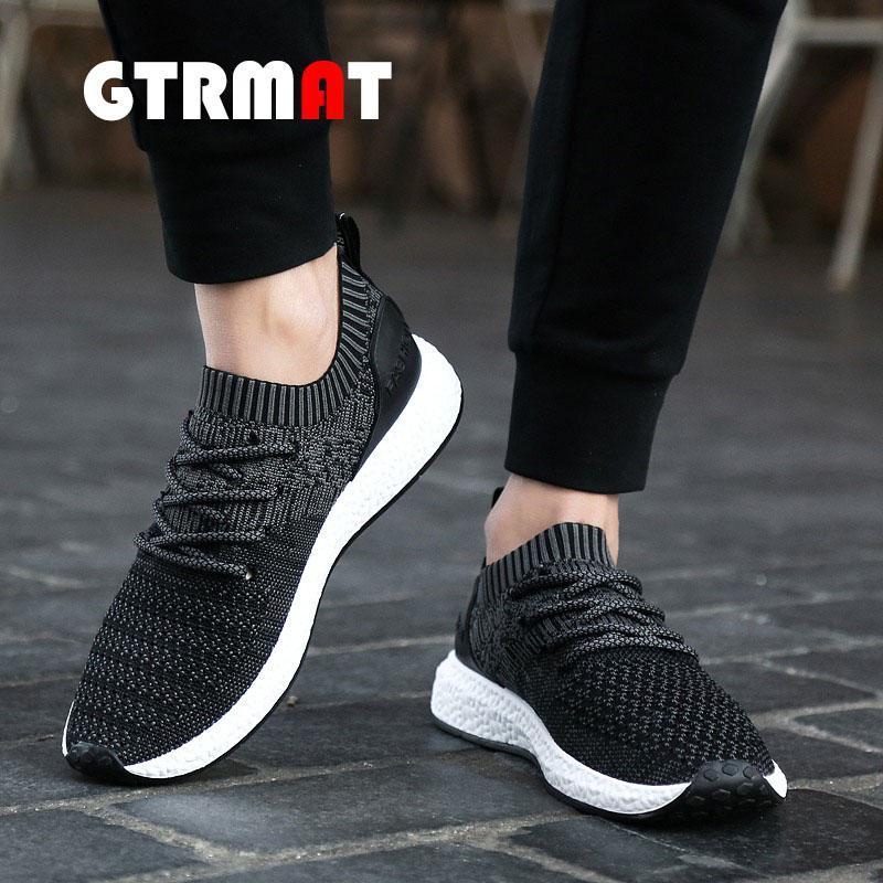 GTRMAT Super Bernapas Fashion Sneakers Pria Sepatu Olahraga Kasual Lembut  Sepatu lari tahan lama Sepatu Jala 37f5ad6f2f