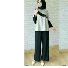 Celana Kulot Wanita Bahan Babat/salur Delisa Store 2