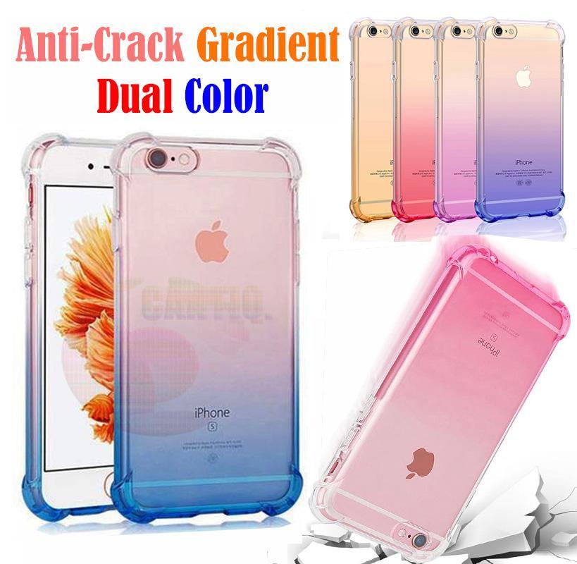 Case Anti Shock Gradient iPhone 8 Ukuran 4.7 inch Ultrathin Anti Crack Elegant Softcase Anti Jamur Air Case 0.3mm / Silicone Iphone 8G / Soft Case / Silikon iphone 8G Anti Crack Warna / Case Hp / Case iphone 8 - Blue / Biru