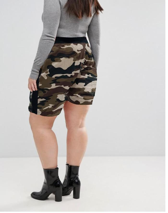Promo ECI Celana Pendek JUMBO Motif Army Fashion BIG SIZE Wanita best seller