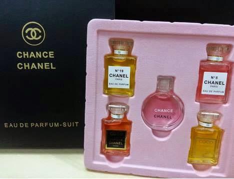 Chanel Parfum Miniatur Gift Set Isi 5 Pcs