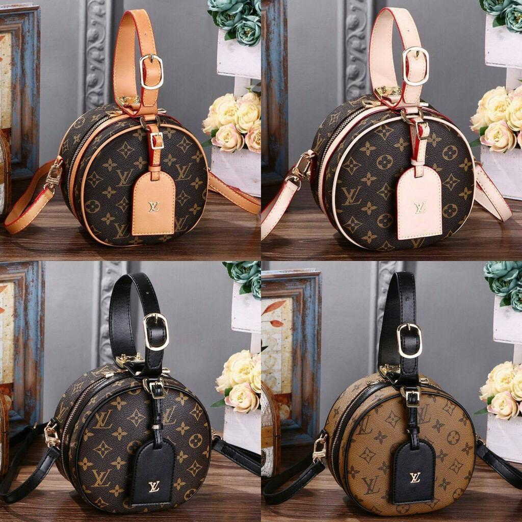 Louis Vuitton Petite Boite Bag 8008# in Monogram (Set sertifikat & dustbag LV) TAS BRANDED Fashion Wanita Tas Import Grosir Tas Selempang Ransel Handbag Trendy