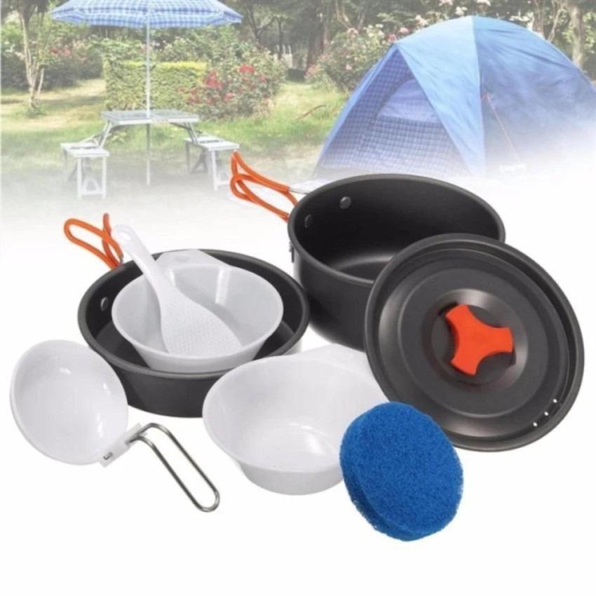 Universal Cooking Set Panci Dan Mangkok Satu Paket Cocok Untuk Camping