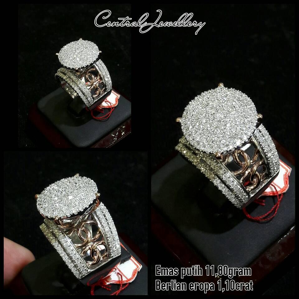 TERBARU cincin emas putih berlian eropa