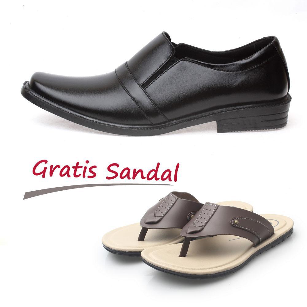 Kaiko / RK shoes / fashion pria / sepatu / sepatu pria / sepatu cowo / sepatu cowok / sepatu formal pria / sepatu kerja / sepatu formal pria / sepatu kerja pria / sepatu kulit / sepatu kulit pria / sepatu formal pria RF02 GRATIS sandal pria R1 coklat