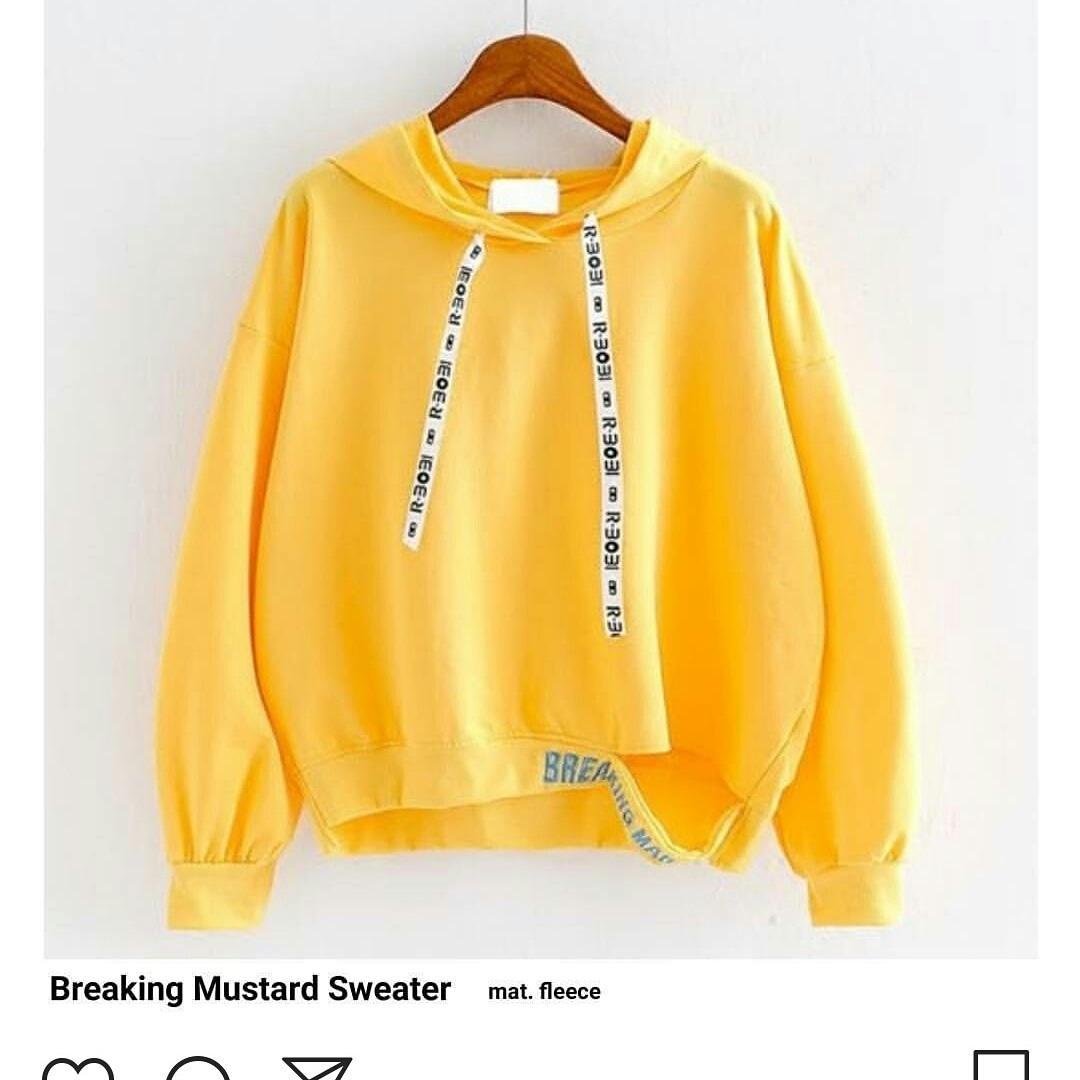 Sweater Hoodie Breaking Mark Warna Kuning c0f27844df