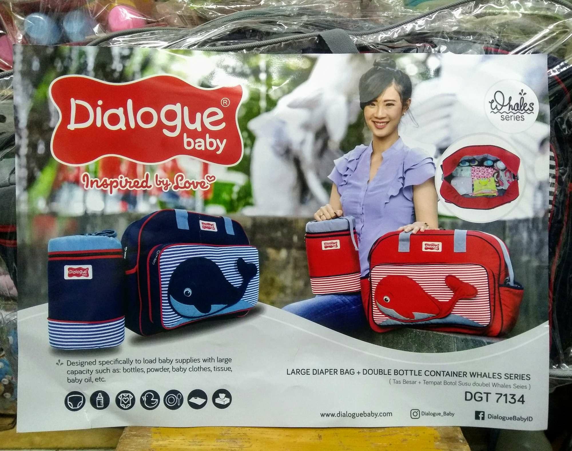 Tas besar + Tempat botol susu double whale series Dialogue Baby