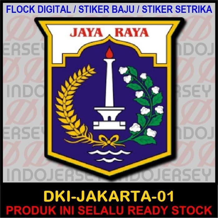 Hot Item!! Patch Flock Setrika - Logo Indonesia - Dki Jakarta 01 - ready stock