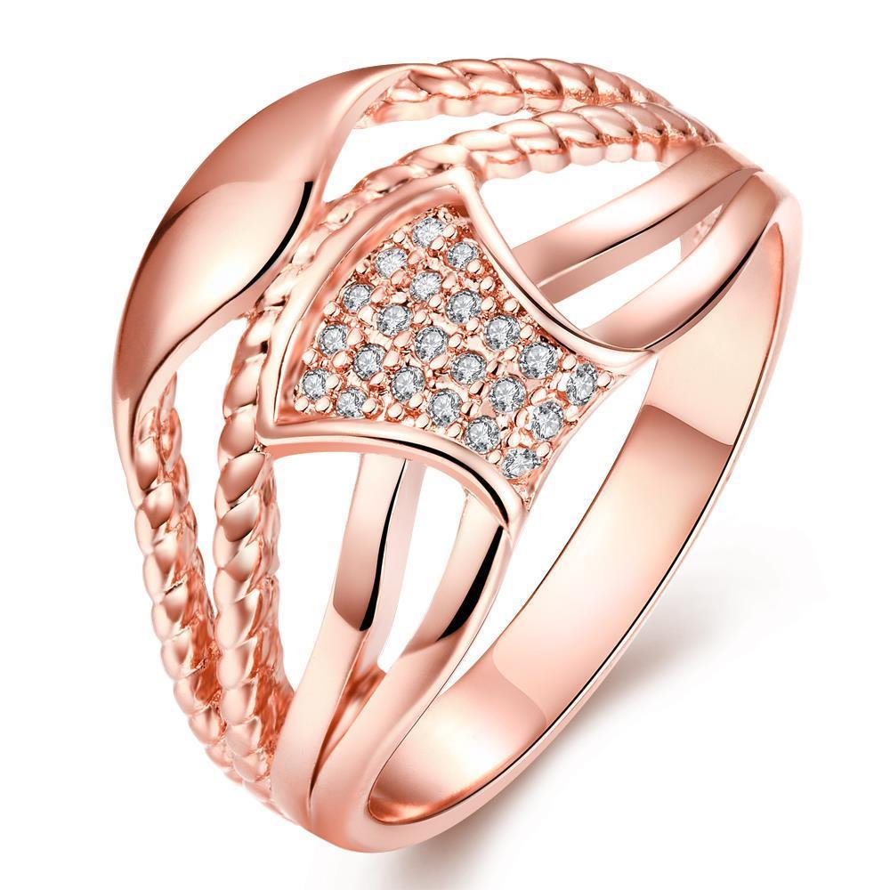 Emas emas zirkon modis dan kreatif rasa desain hierarki cincin wanita KZCR258-B-8 KZCR258-B